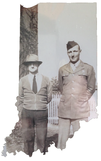 Robert W. Rogers & his uncle William Jones in Gary, Indiana