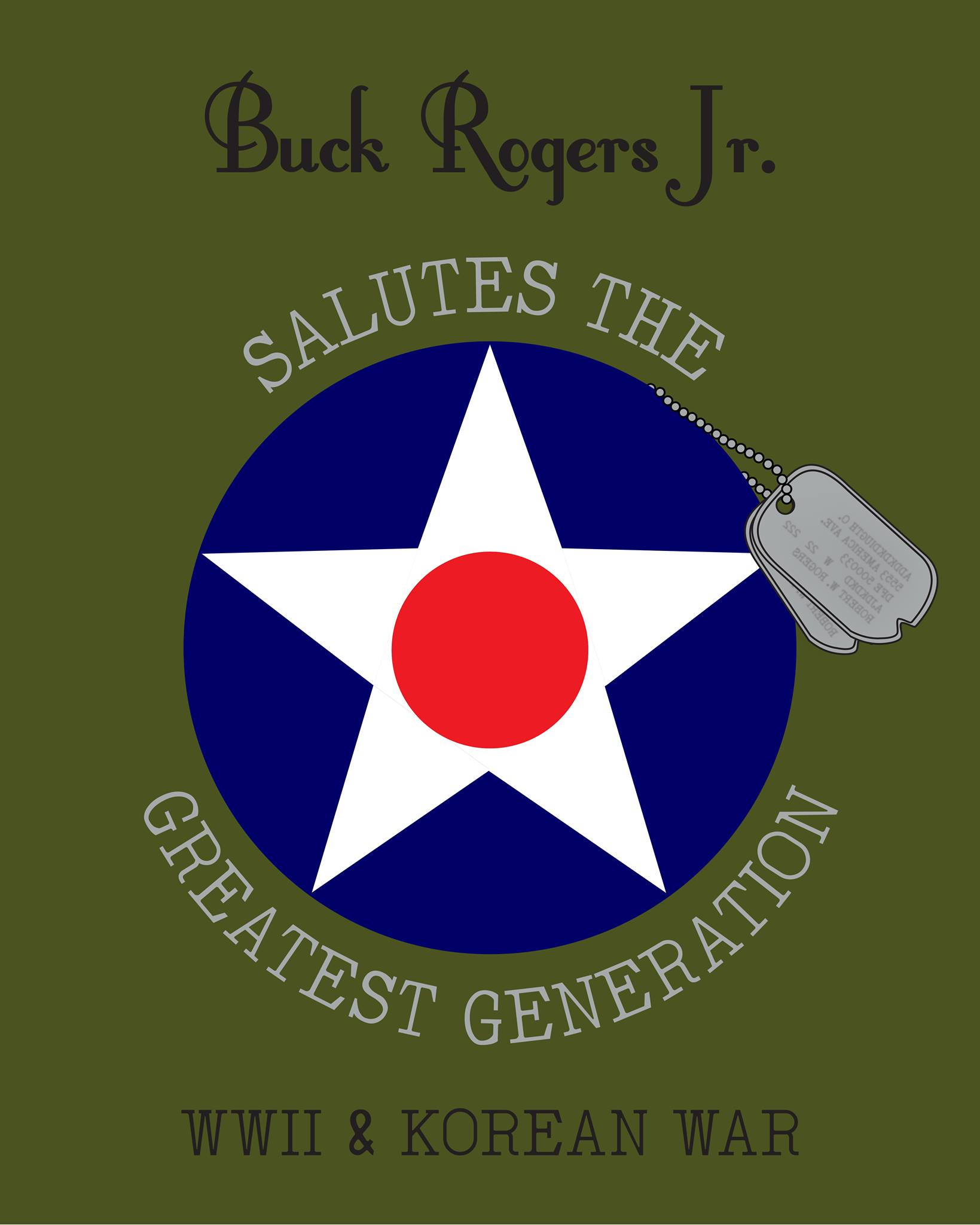 BRJ Salute to the Greatest Generation T-Shirt in Olive