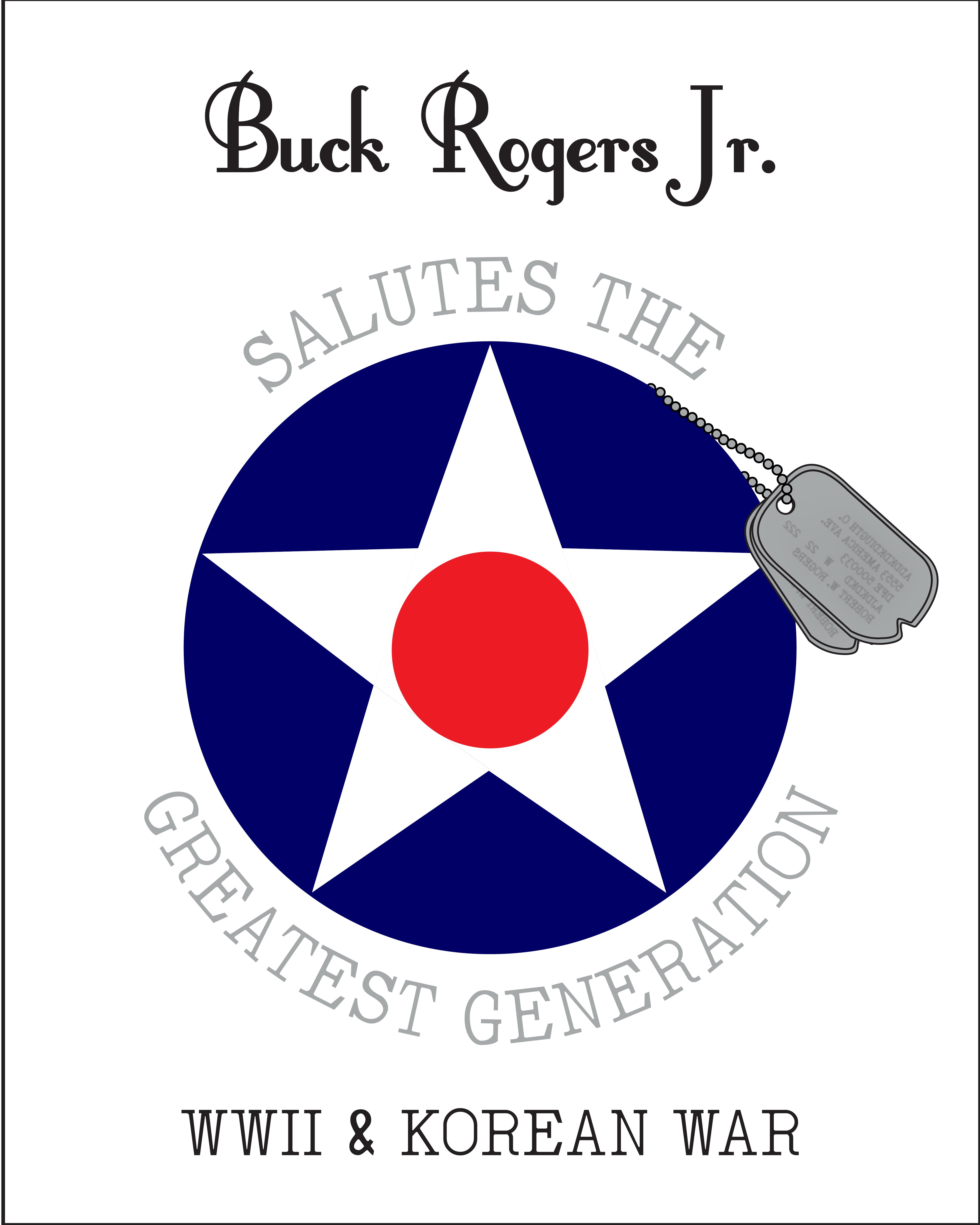 BRJ Salute to the Greatest Generation T-Shirt in White